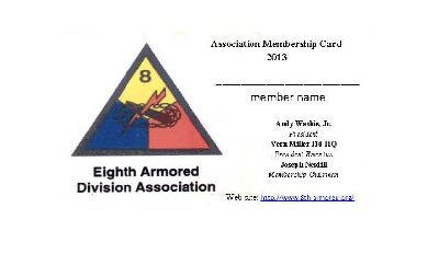 8th AD membership card
